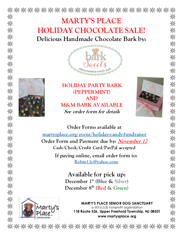 Holiday Candy Fundraiser - Marty's Place