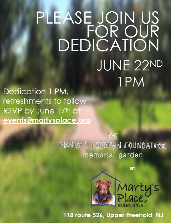 Memorial Garden Dedication Ceremony - Marty's Place